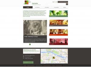 Page d'accueil de la bibliothèque numérique