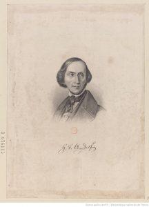 Portrait de Hans Christian Andersen