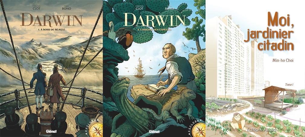 Couvertures des BD de la bibliothèque