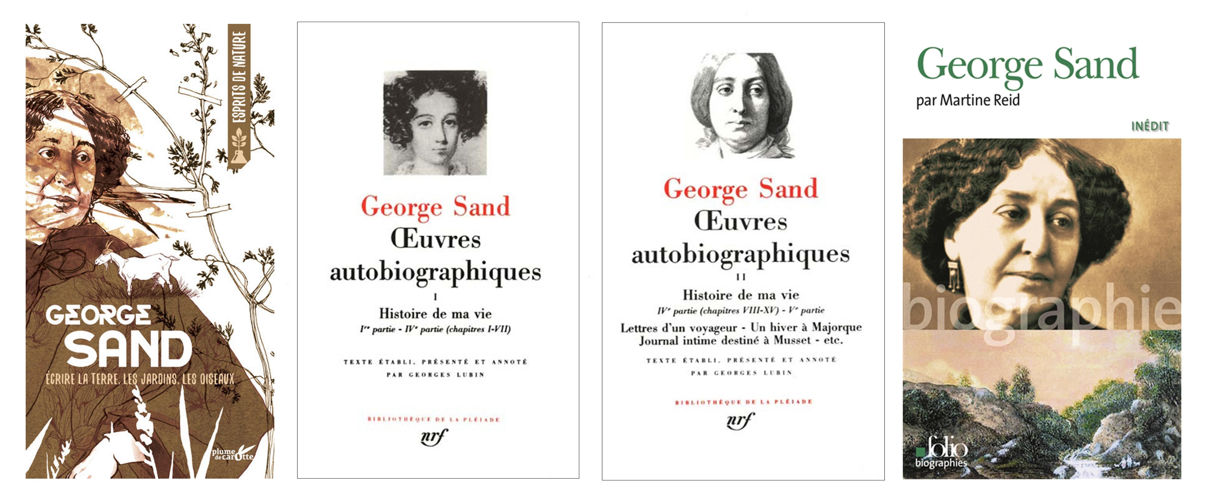 Couvertures des ouvrages de et sur George Sand