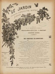 Le jardin - 1897 - Page de titre