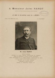 Le jardin de 1903 - Dédicace à Jules Nanot
