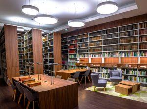 Photo espace de travail de la bibliothèque